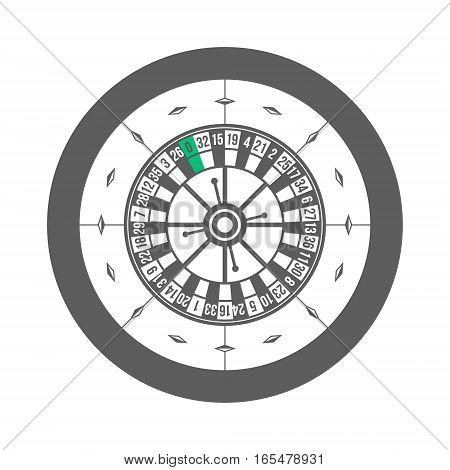 Casino Roulette Isolated on white background Vector illustration