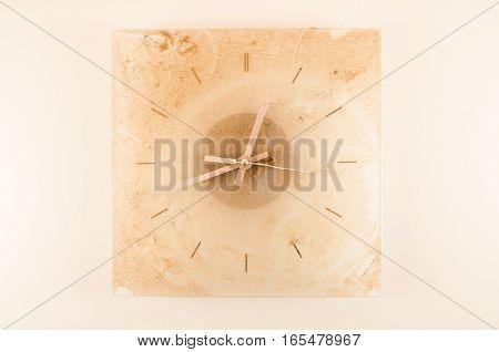 Close-up Of A Dirty Clock