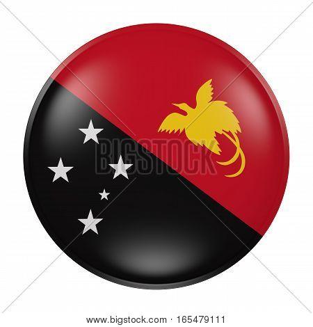 Papua New Guinea Button On White Background