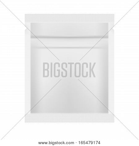 White Blank Foil Packaging Template Vector Illustration
