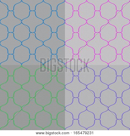 Set of Abstract Seamless Pattern Vector Illustration