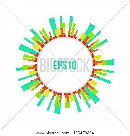 Abstract Colorful Circle Business Background Vector illustration