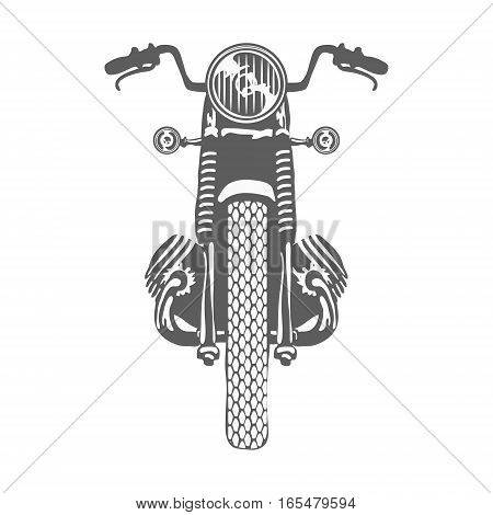 Hand Drawn Vintage Motor Bike Vector illustration