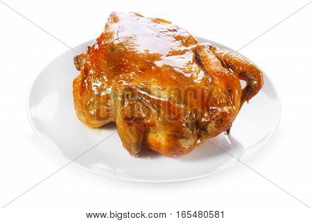 Plate Of Roasted Chicken