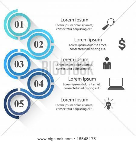 Business Infographics origami style Vector illustration on the white background