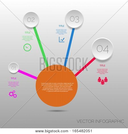 Circle  Infographic Template Design Vector Eps 10
