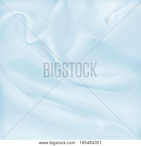 Smooth Elegant Blue Silk Or Satin Luxury Cloth Texture As Abstract Background