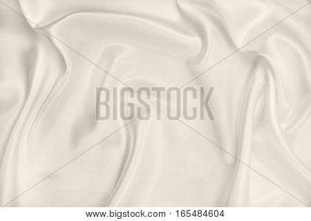 Smooth Elegant Golden Silk Or Satin Luxury Cloth Texture As Wedding Background. In Sepia Toned. Retr
