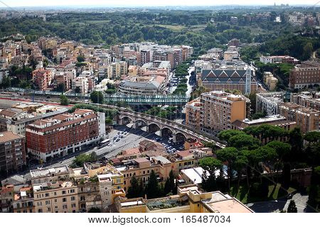 View of Rome from the Vatican. Italy