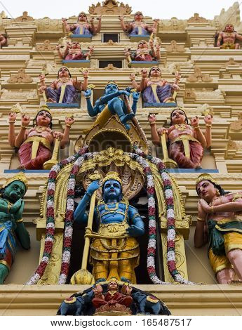 The Hindu God Krishna temple in India, Udupi