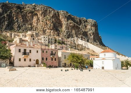 Monemvasia town and a municipality in Laconia, Greece