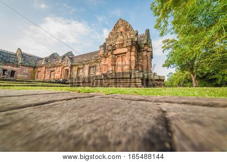 Sand Stone Castle, Phanomrung In Buriram Province, Thailand. Religious Buildings Constructed By The