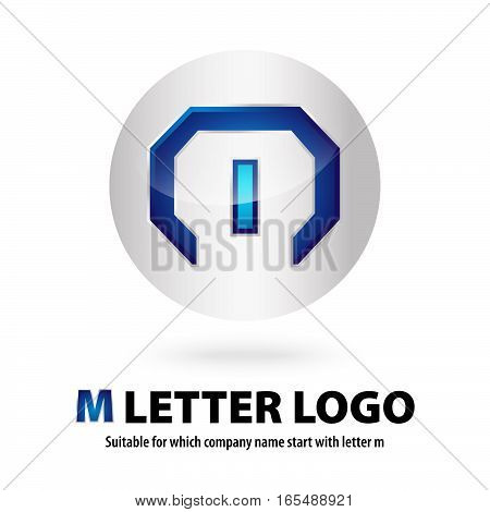 3d circle m letter logo 100% vector fully editable and  resizable suitable for which letter is begining with letter m