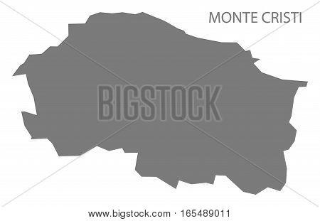 Monte Cristi Dominican Republic Map Grey