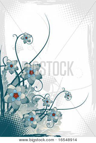 Retro flower card