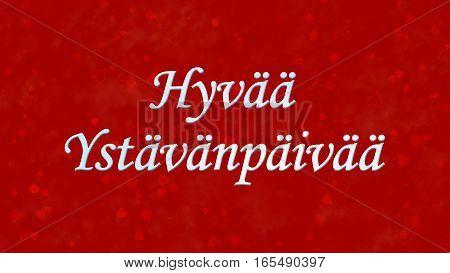 """Happy Valentine's Day Text In Dutch """"hyvaa Ystavanpaivaa"""" On Red Background"""