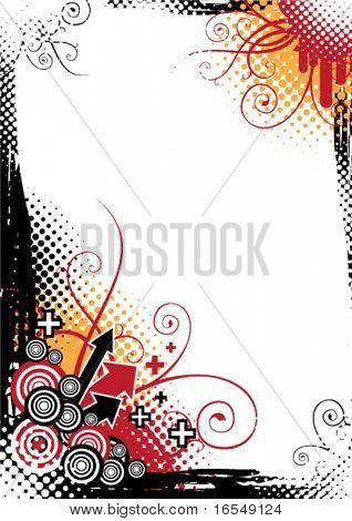 Vector abstract card