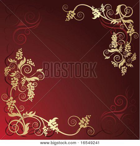 Gold grape frame