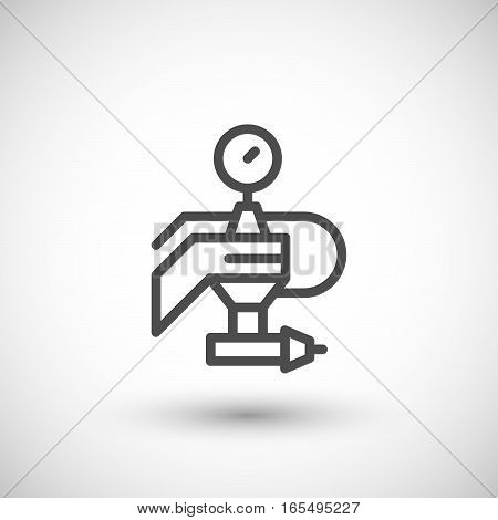 Painting machine part line icon isolated on grey. Vector illustration