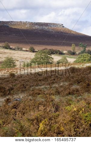 Carl Wark from the Longshaw Estate, Peak District, UK