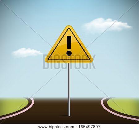 Vector road sign . vector illustration .