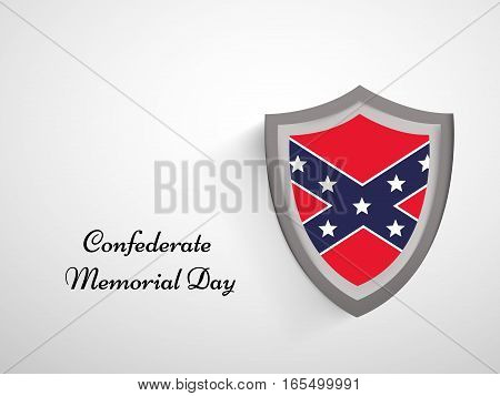 Illustration of U.S South Flag for Confederate Memorial Day