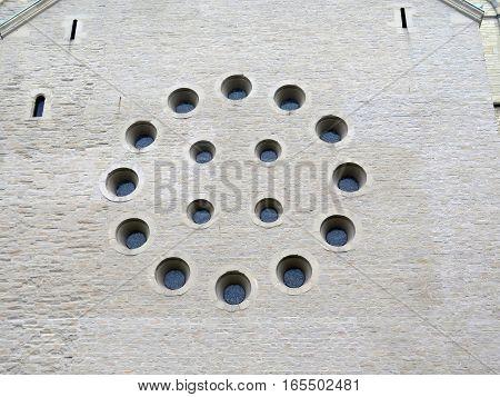 Closeup Of Round Window Circle
