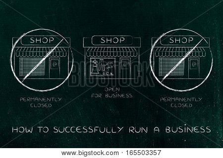 One Shop Open For Business Surrounded By Others Permanently Closed