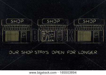 One Open Shop Surrounded By Others Already Closed
