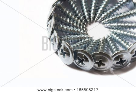 screw bolt wood screwself-tapping isolated headwork metal construct