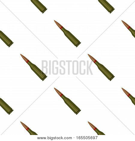Military rifle bullet icon in cartoon style isolated on white background. Military and army pattern vector illustration