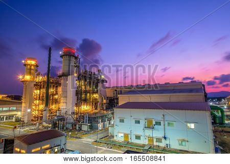 Combine Cycle Power Plant With Clear Sky