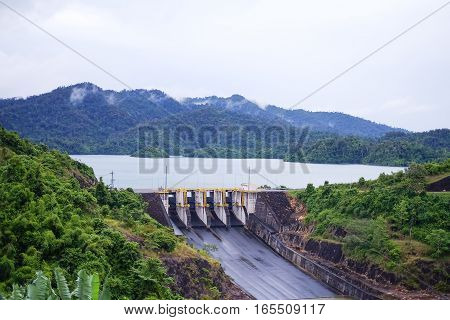 Dam or hydro power plant in thailand