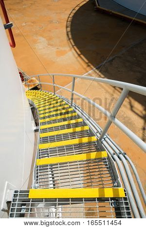 Stair grating of fuel oil storage tank in power plant