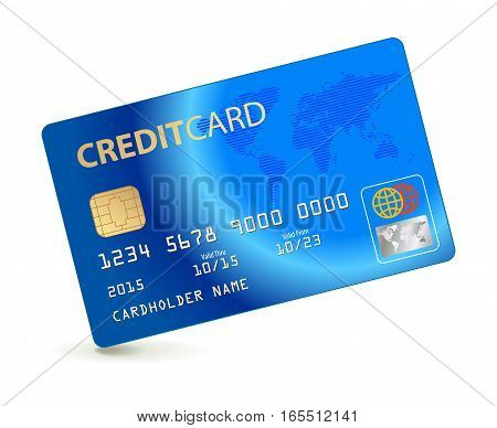 Credit card. Conceptual illustration. Vector illustration. Isolated on white background