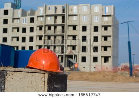 Construction of the new moden residential buildings