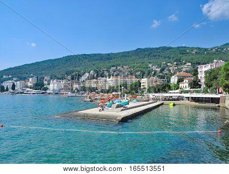 View to Opatija at adriatic Sea in Istria,Croatia