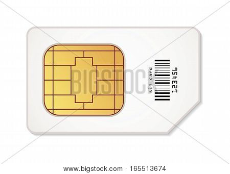 Sim card icon. Vector illustration. Conceptual illustration. Isolated on white background