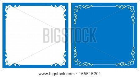 Vector blue decorative frame and background (Eps)