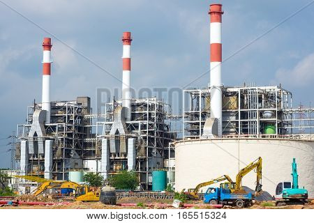 Construction of Thermal power plant in Thailand