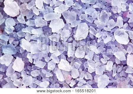 Sea Salt For Beauty Treatment With Lavender Aroma