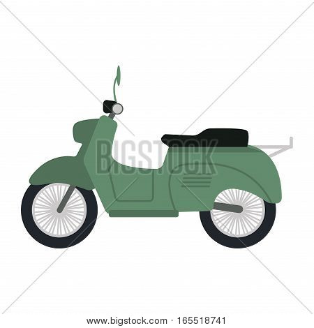 Retro vector vespa scooter motorcycle travel design. Motorbike delivery vehicle illustration. Transportation moped cartoon motor urban sign.