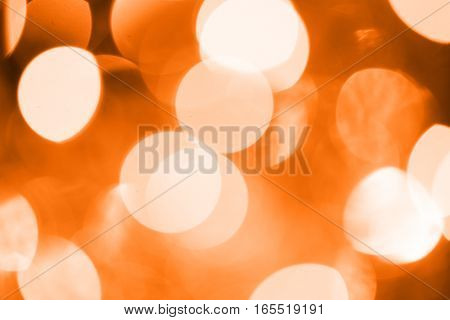 Vintage Magic Background With orange Color Festive background with natural bokeh