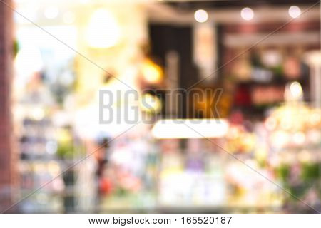 Blurred Background Of Store