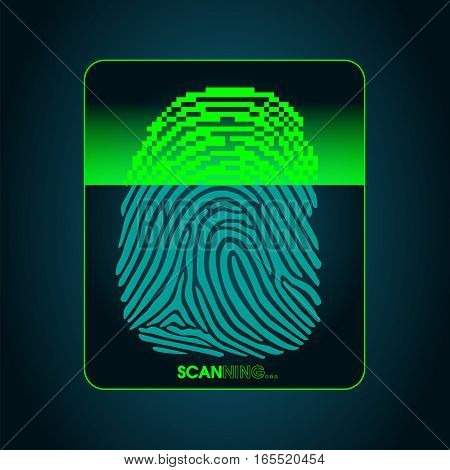 the process of fingerprint scanning - digital security system, the access control system, data protection