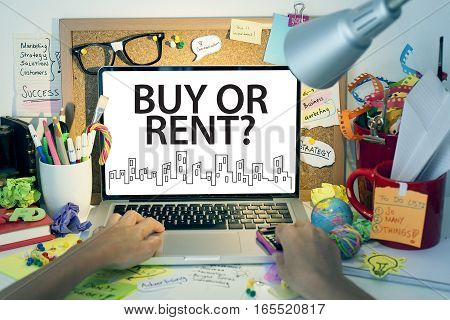 Buy or rent decision real estate property management