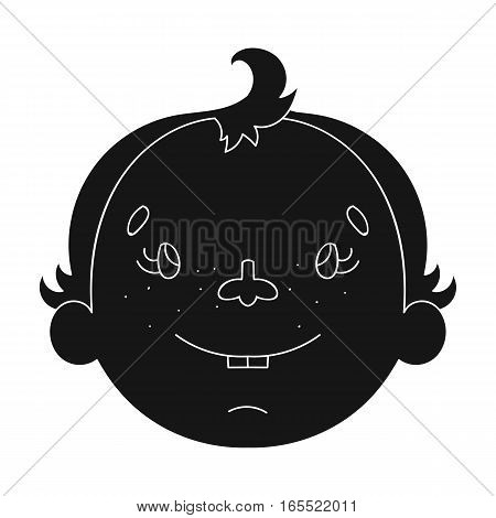 Son icon in black design isolated on white background. Family holiday symbol stock vector illustration.