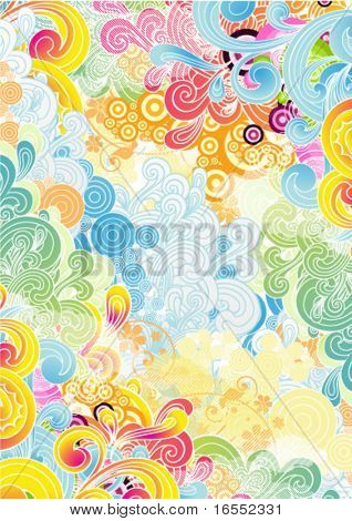 Abstract positive background