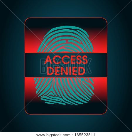 the result of the fingerprint scan access denied, the access control system security data protection