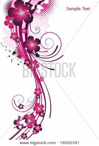 Pink flower background.